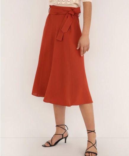 Falda de lino de capa