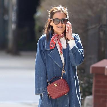 Katie Holmes nos propone un estilismo perfecto para esta primavera (y es más fácil de lo que pensamos)