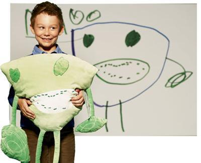 El dibujo de tu hijo convertido en un peluche