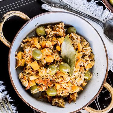 Atún a la mexicana con aceitunas y laurel. Receta fácil, deliciosa y saludable