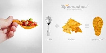 Spoonachos, nachos hechos cuchara