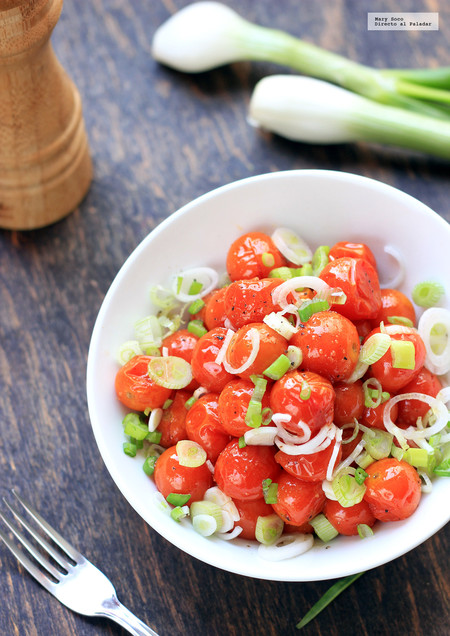 Ensalada Jitomates Cherry Ensaladas Saludables Faciles De Preparar Para Este Verano