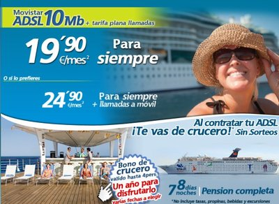 Movistar te regala un crucero al contratar tu ADSL