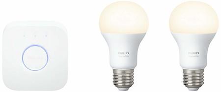 Kit de iluminación Philips Hue, con un altavoz inteligente Google Home Mini gratis, por 69,95 euros en El Corte Inglés