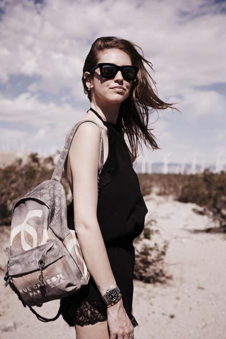 Chiara Ferragni con mochila Chanel