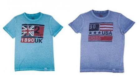 Camisetas retro con banderas