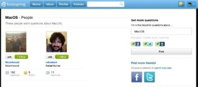 Formspring sigue mejorando y nos sugiere a usuarios que compartan nuestros intereses