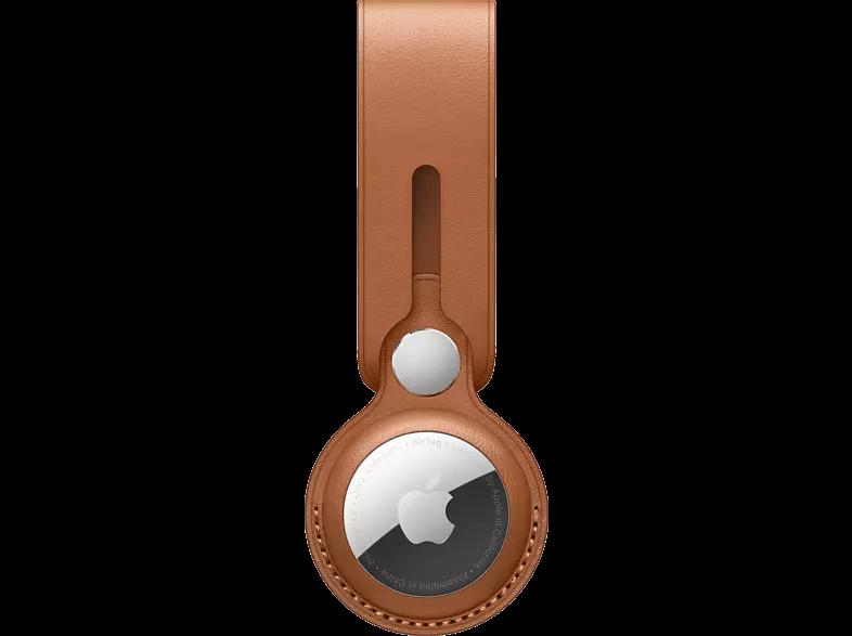 Correa - Apple AirTag MX4A2ZM/A, Correa de piel, Marrón caramelo