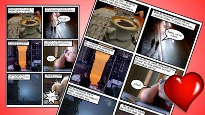 Como crear un cómic con fotografías en Inkscape (para San Valentín)