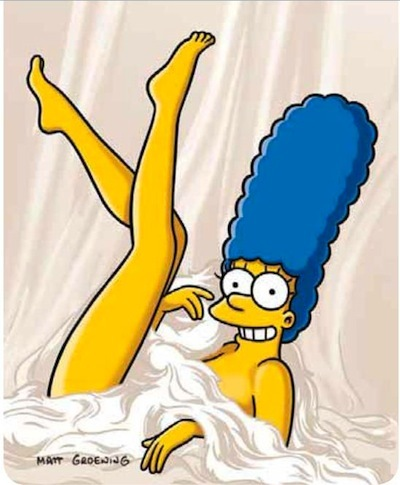 Marge Simpson para Playboy