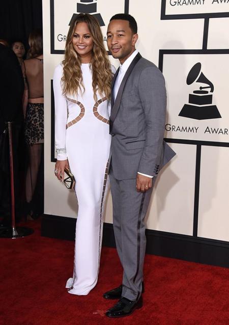 Parejas Grammy 2015 Chrissy Teigen John Legend