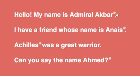 ¿Harto de que pronuncien mal tu nombre? Esta web acaba con tus problemas