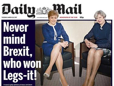 El 'Daily Mail' se corona en machismo: qué importa el Brexit cuando las primeras ministras muestran las piernas en portada