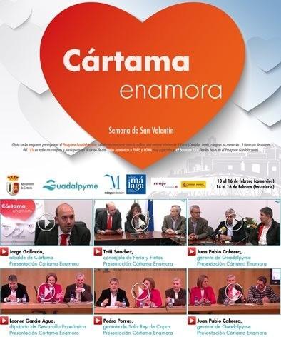 """""""Cártama enamora"""",  la localidad malagueña ofrece descuentos y sorteos por San Valentín"""