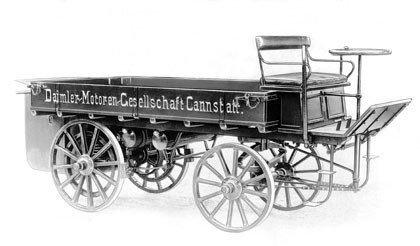 Daimler-Motoren-Gesellschaft Truck, el primer camión de la historia