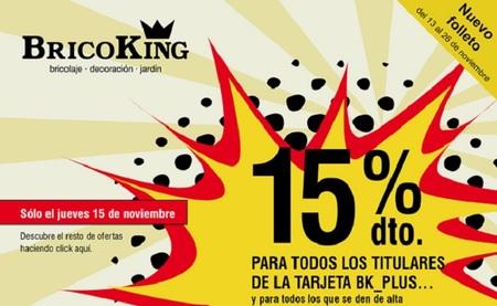 15% de descuento en Bricoking para los titulares de la tarjeta Bk_Plus y nuevos socios este jueves 15
