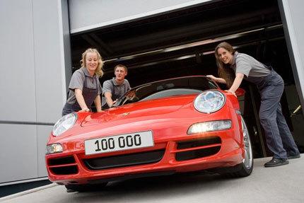 Sale de fábrica el Porsche 911 (997) número 100.000