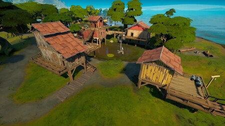 Dónde están las casas en Pantano Pegajoso en Fortnite de la semana 7