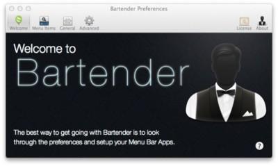 Bartender, control para los ítems de la barra de menú de Finder