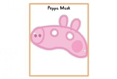 Máscara de Peppa Pig para imprimir