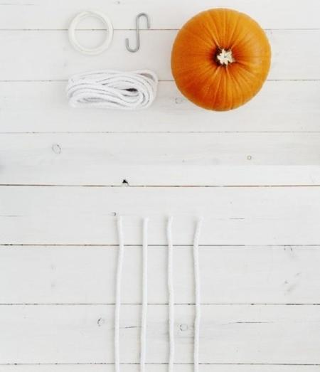 Diy Macrame Hanging Pumpkins 2
