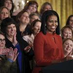 Así luce Michelle Obama sin un peluquero las 24h del día