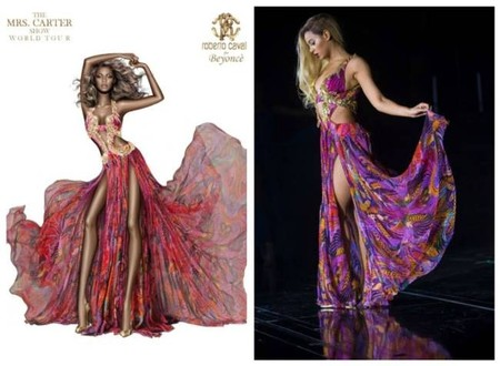 Roberto Cavalli crea un vestido para Beyoncé y se olvida de sus curvas