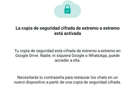 Copia Seguridad Cifrada Whatsapp