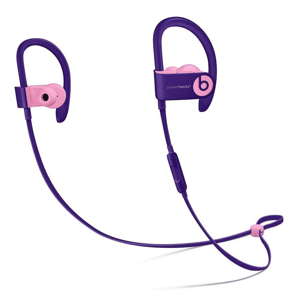 Auriculares deportivos - Beats PowerBeats3 Wireless Pop Collection, Bluetooth, Fast Fuel, Violeta