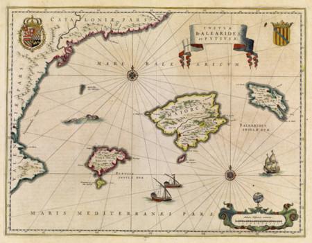 Insulae Balearides Et Pytiusae 1640