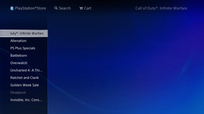 Call Of Duty Infinite Warfare Ps Store