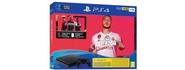 Estrenar una PS4 Slim de 1 TB con FIFA 20 y 14 días de PSN, nos sale por sólo 284,95 euros gracias al cupón PARATODO5 de eBay