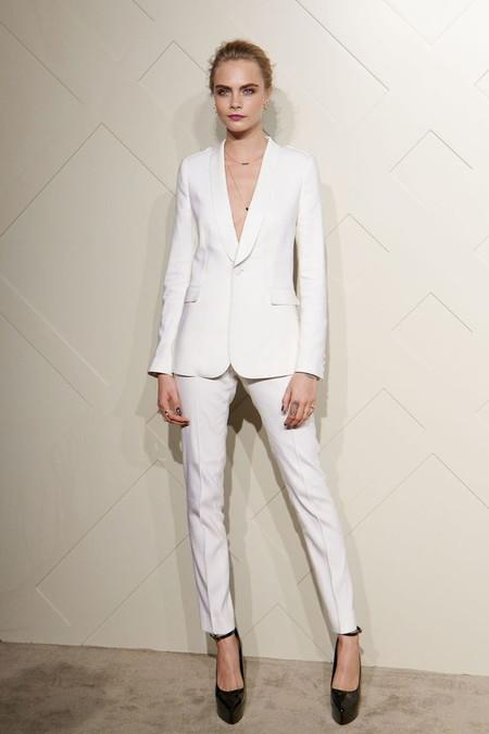 Vestido smoking mujer blanco