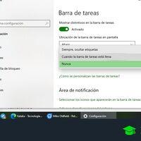 Iconos de la barra de tareas de Windows 10: cómo cambiar la manera en la que se ven