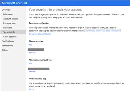 Las cuentas Microsoft ya tienen autenticación en dos pasos