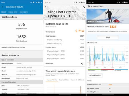 Moto Edge 20 Lite Benchmarks