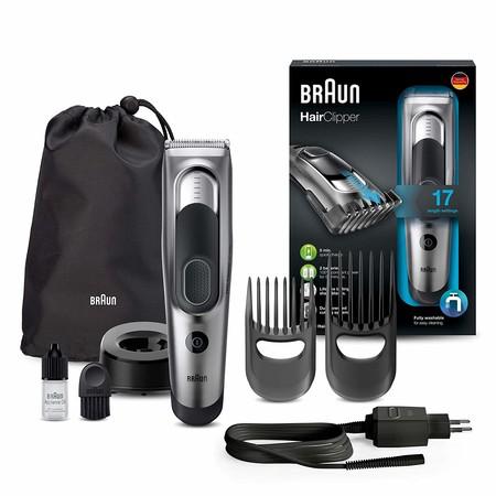 Por 40,87 euros tenemos en Amazon la máquina de cortar el pelo Braun HC5090 con accesorios