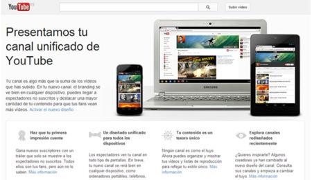 YouTube habilita One Channel para cualquier usuario. La imagen de la semana