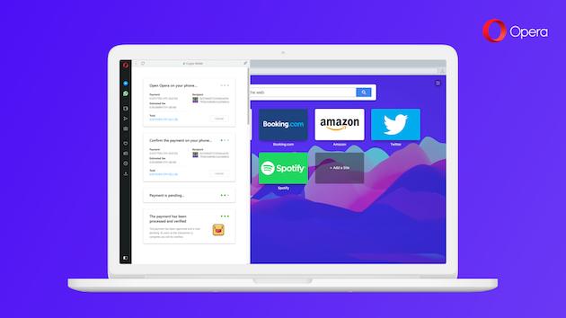 En plena caída de las criptomonedas, Opera anuncia una cartera integrada en su navegador de escritorio