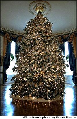 Decoración navideña en la Casa Blanca