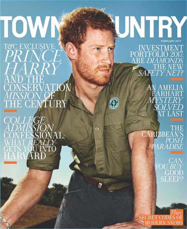 Prince Harry 2017 Town Country Cover