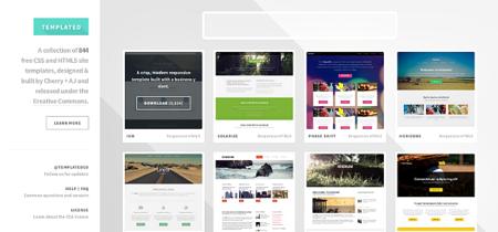 En Templated.co encontraremos 844 plantillas HTML5 y CSS bajo licencia Creative Commons
