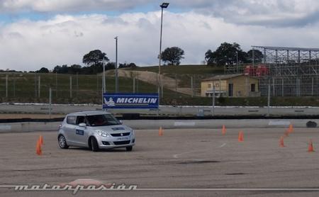 Michelin, Circuito del Jarama, Neumáticos nuevos y neumáticos desgastados a prueba 02