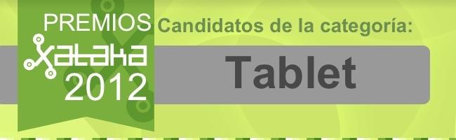 Mejor tablet 2012 candidatos