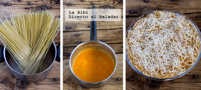 Espagueti Crema Pimiento Prep
