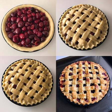 Paso a paso cherry pie o tarta de cerezas americana