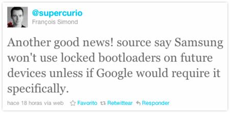 Samsung sin bootloader. RUMOR