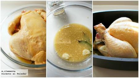 Pollo asado con cítricos y sirope de arce