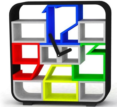 Time shelf, reloj y estantería dos en uno