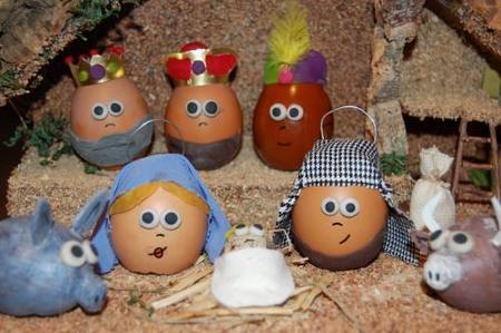 Una idea genial: un Belén hecho con huevos